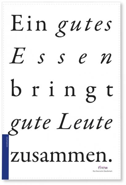 Literarisches Geschirrtuch / Sokrates