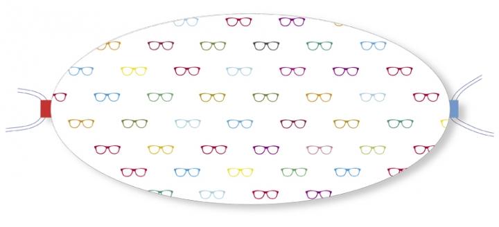 Ovaletti - Mund-Nasen-Maske / bunte Brillen