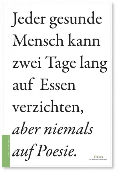Literarisches Geschirrtuch / Baudelaire