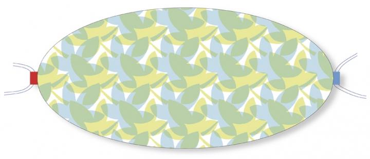 Ovaletti - Mund-Nasen-Maske / Blätterrauschen